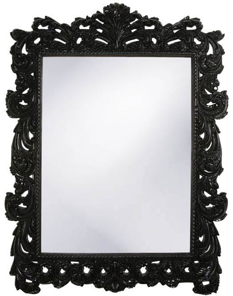 Josephine Ornate Floor Mirror in Black