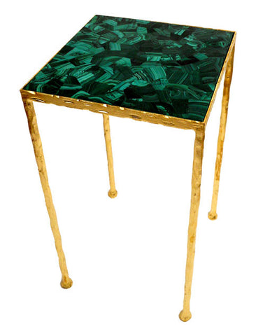 Malachite Toby Side Table