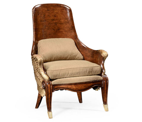 Walnut Empire Style Chair