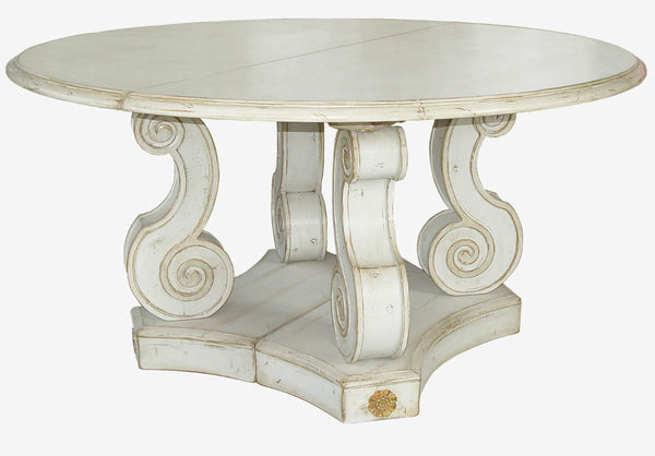 Moissonnier Antiqued White Table