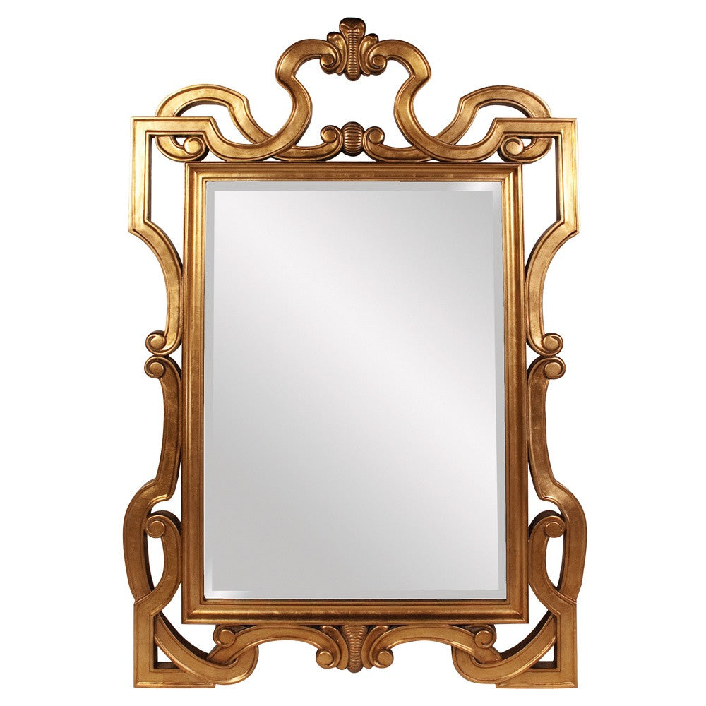 James Oversized Gold Mirror