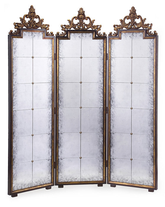 Calliope Églomisé Mirrored Screen