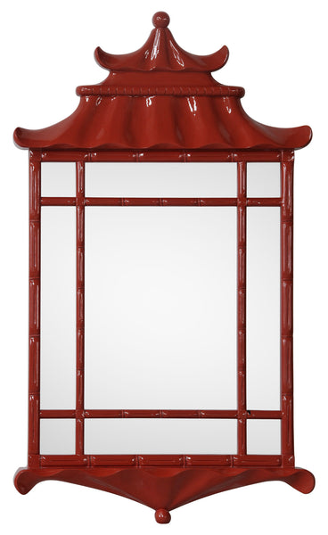 Red Lacquer Pagoda Mirror