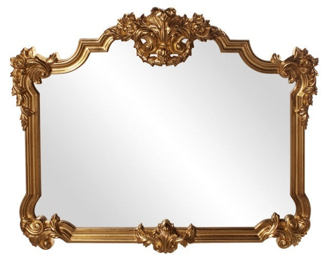 Gwynevere Gold Overmantle Mirror