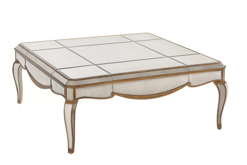 Claire Mirrored Cocktail Table
