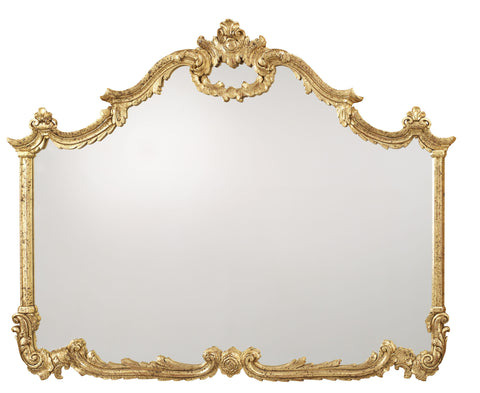Gold Baroque Overmantel Mirror