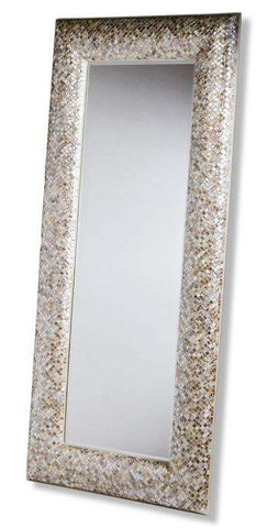 Ariel Mother Of Pearl Floor Mirror