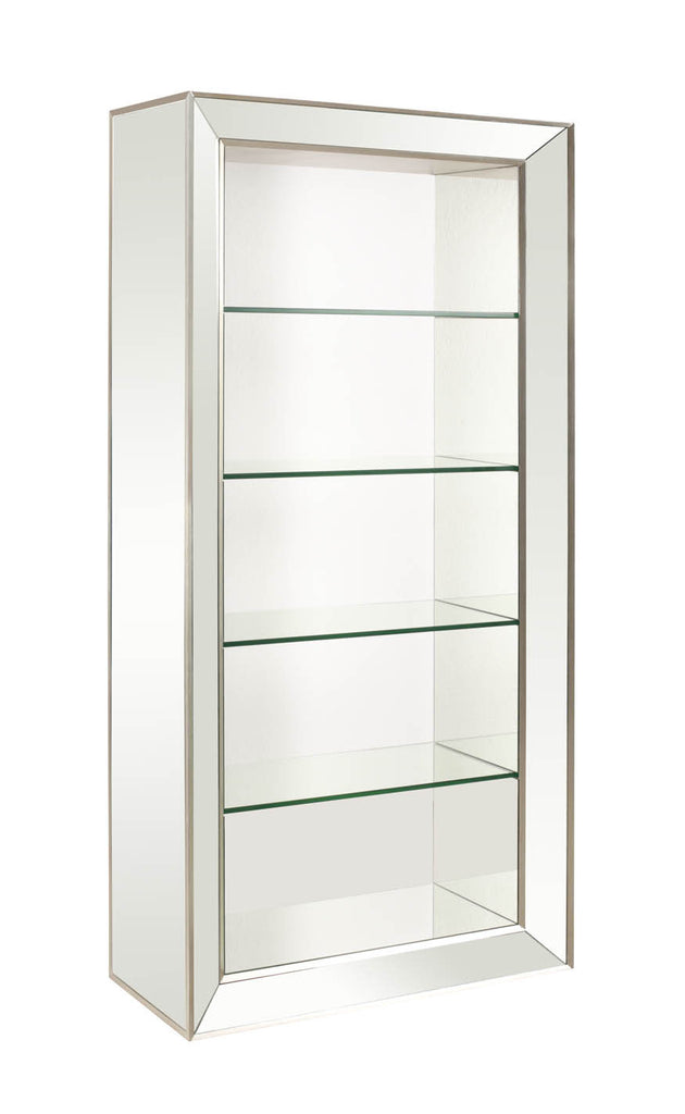 Margeaux Mirrored Bookcase