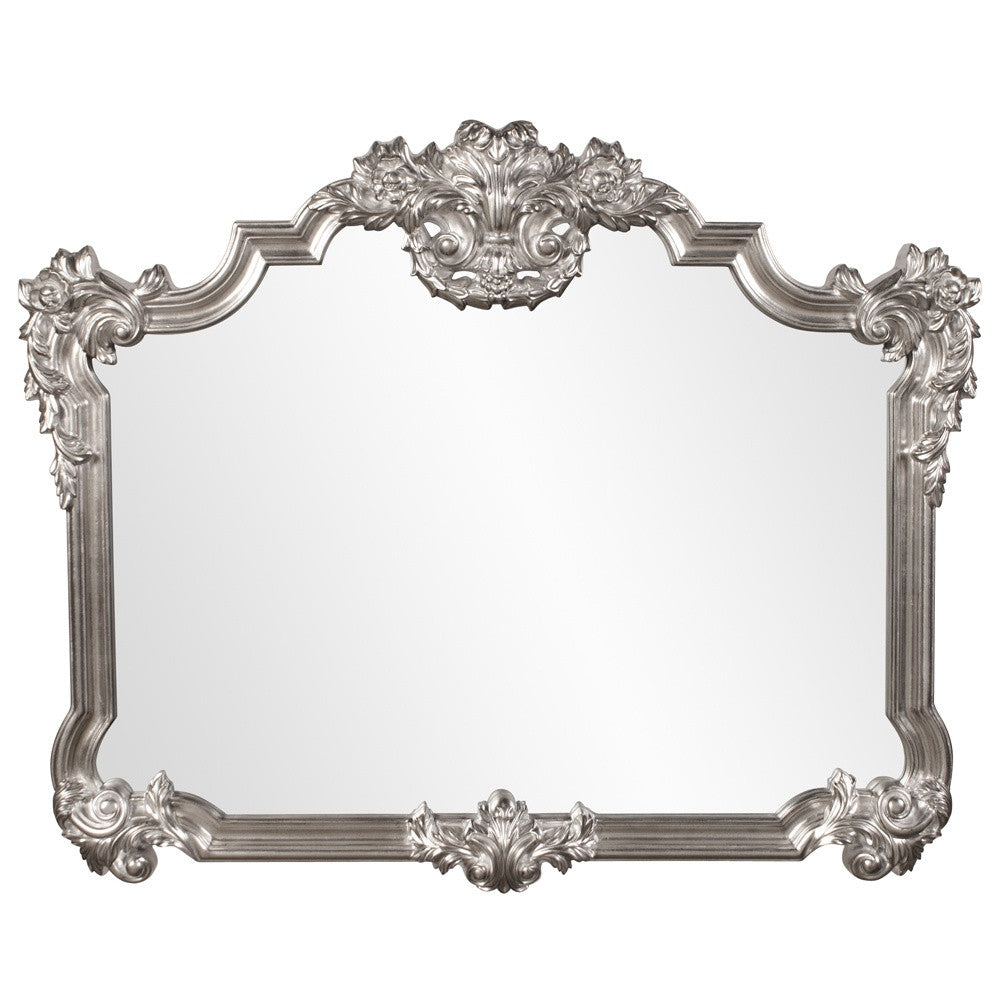 Gwynevere Silver Overmantle Mirror