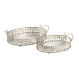 Adrienne Mirrored Tray Set of 2