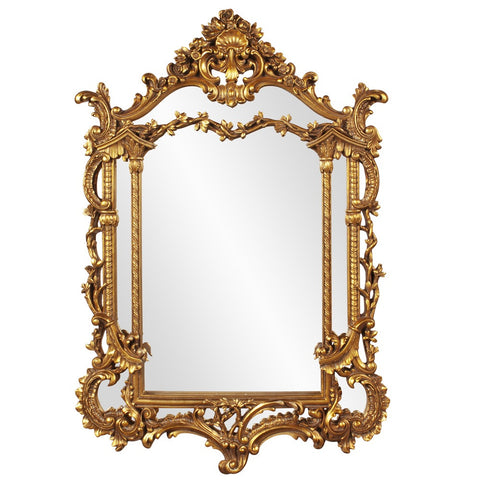 Antique Gold Leaf Baroque Mirror