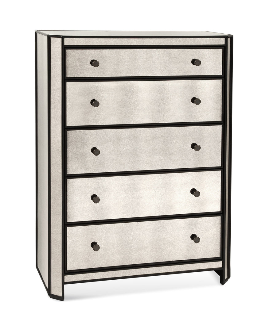 Olivier Five Drawer Mirrored Chest