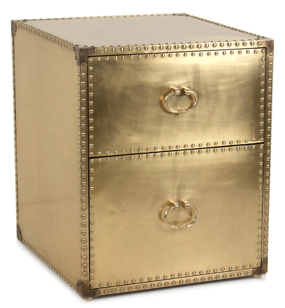 Ramses Brass Side Table