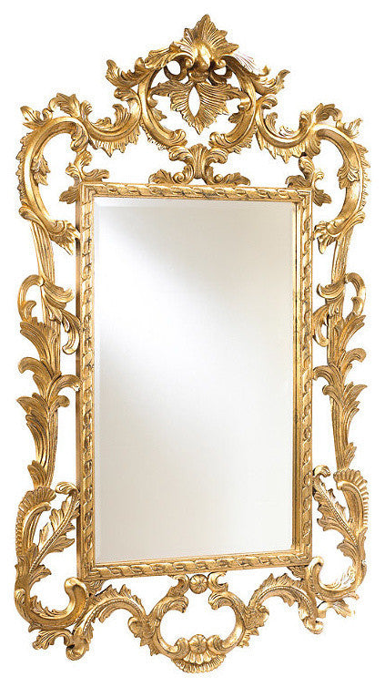 Louis XV Wall Mirror in Gold