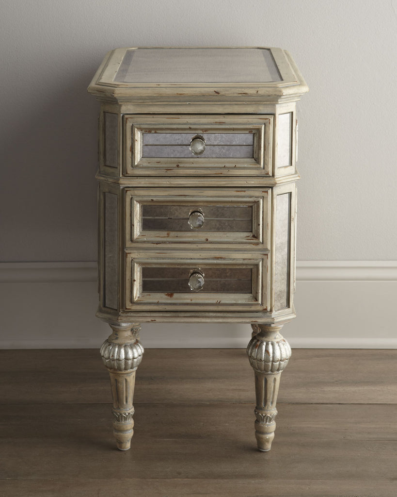 Loren Mirrored Side Table