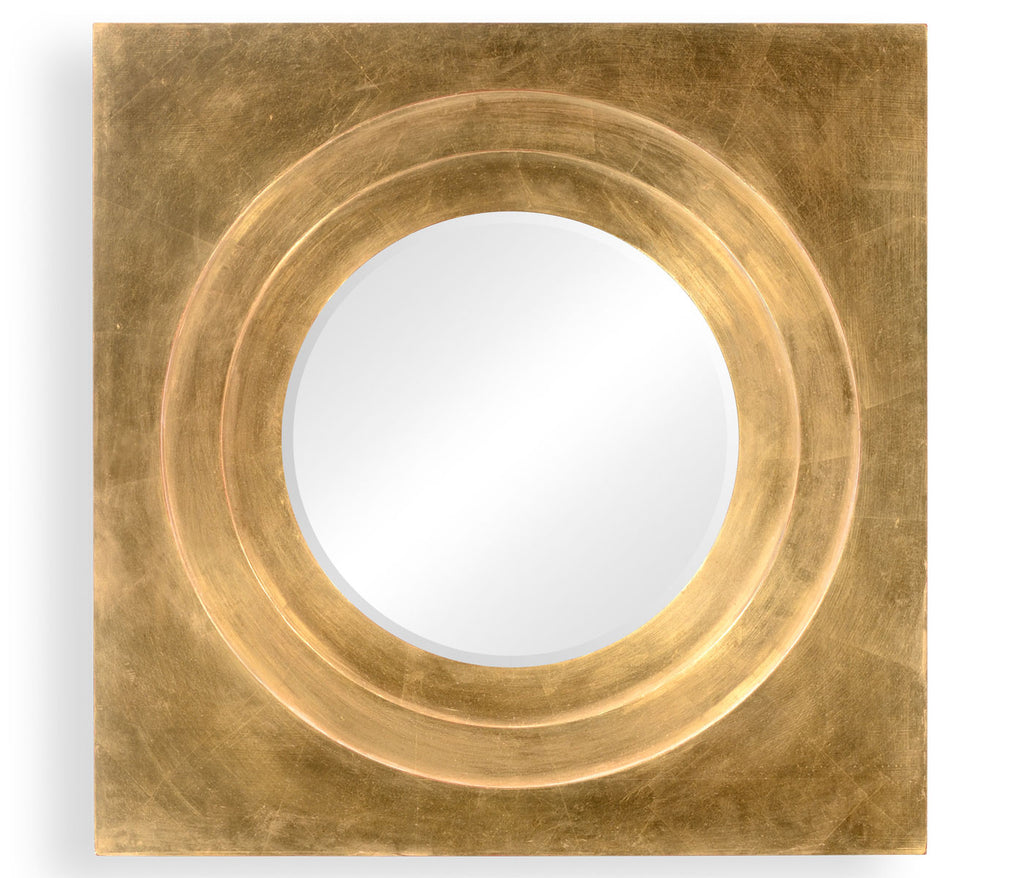 Gilt Framed Round Mirror