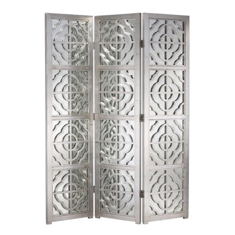 Silver Leaf Mirrored Screen