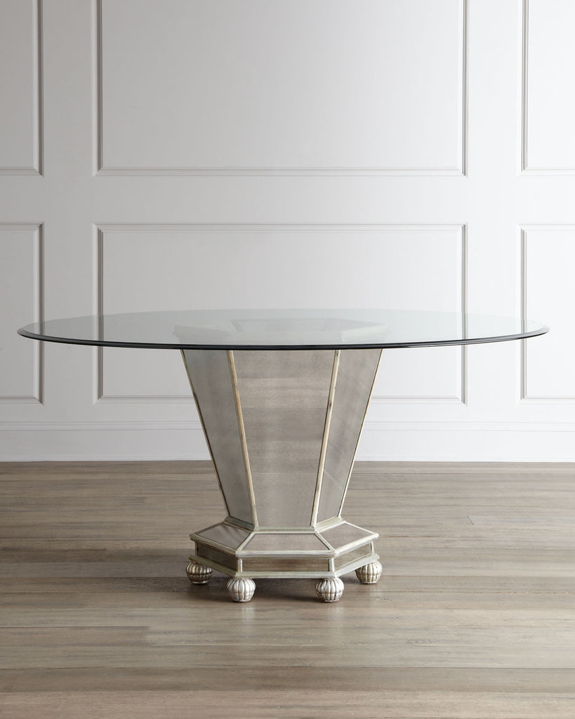 Mara Round Mirrored Dining Table