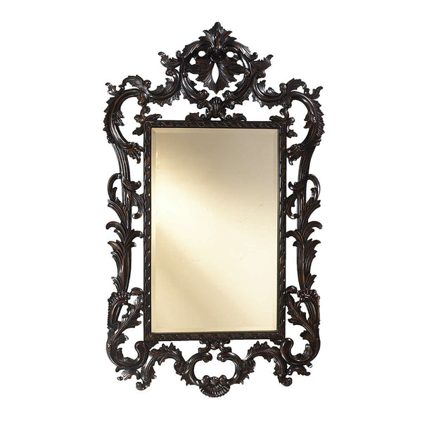 Louis XV Wall Mirror in Black