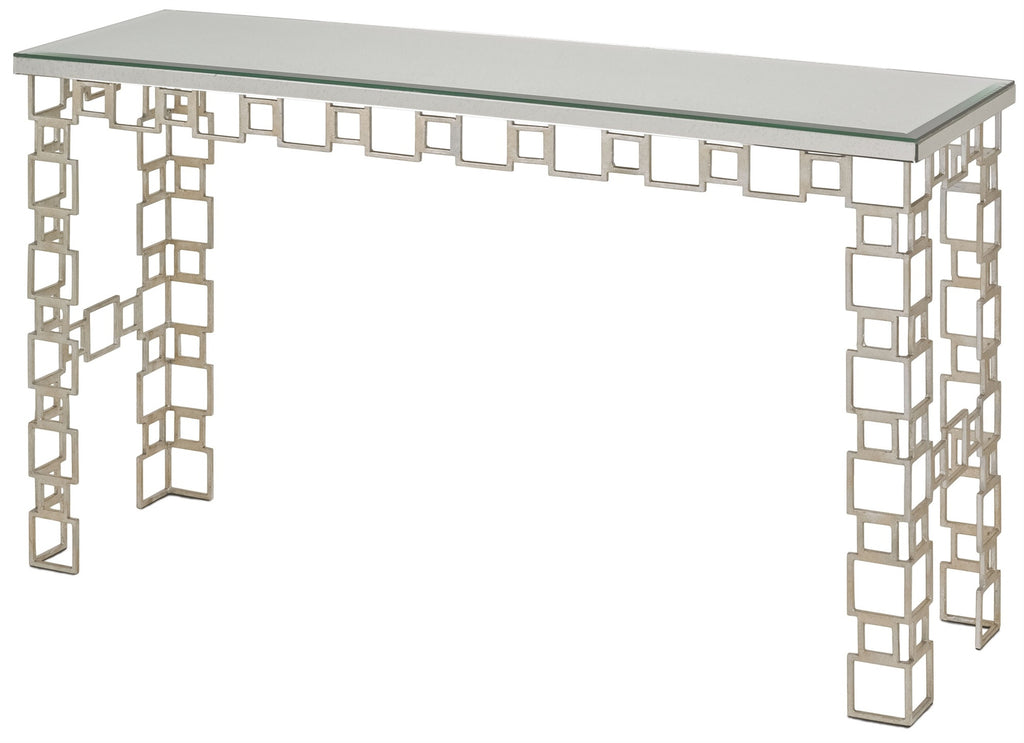 Euclid Mirrored Console Table