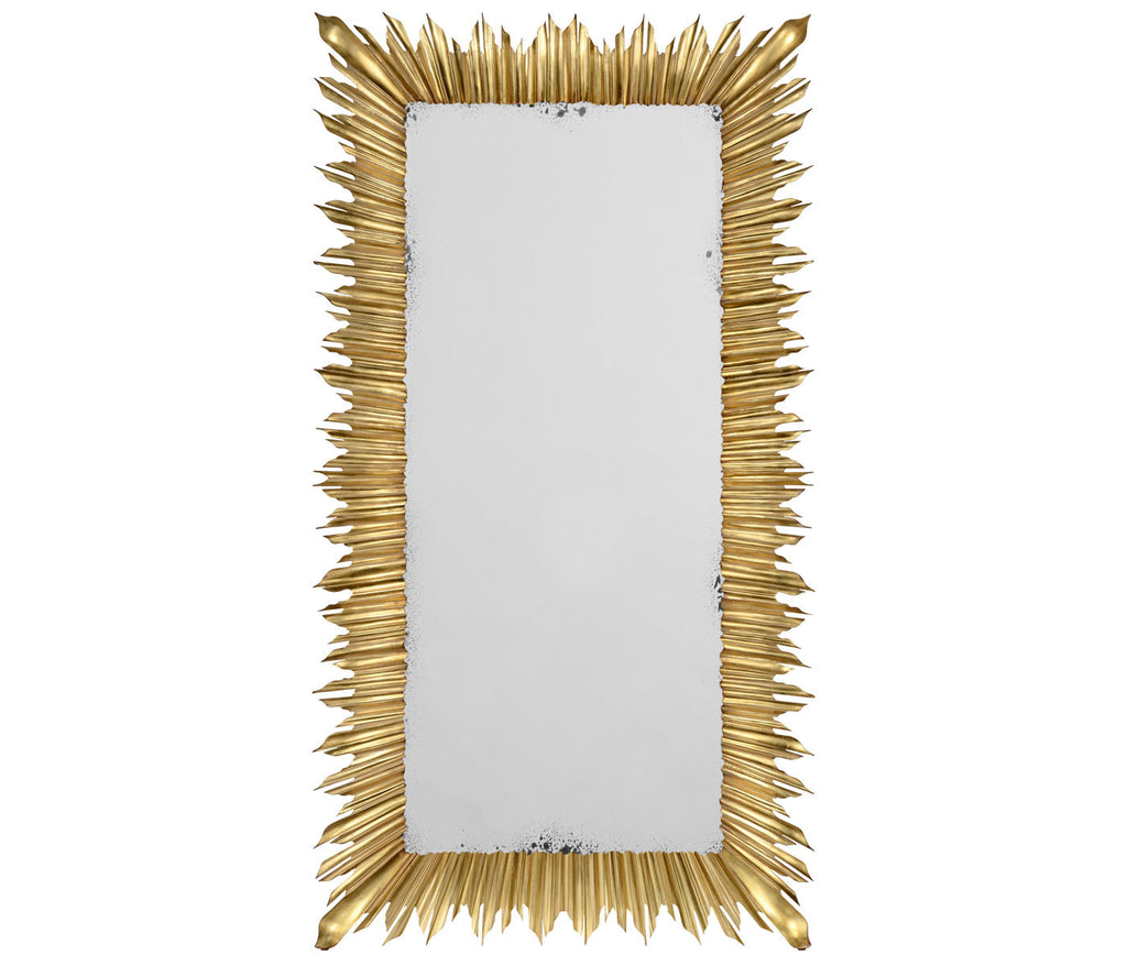 Kelly Sunburst Floor Mirror