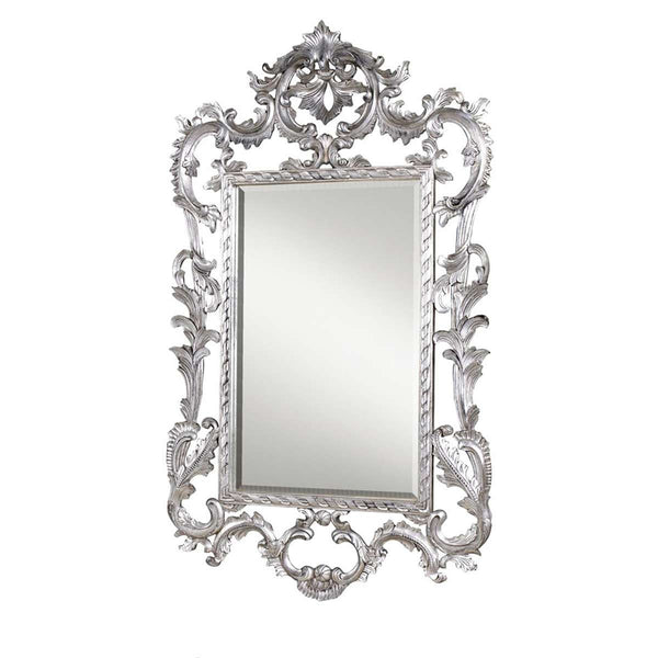 Louis XV Wall Mirror in Silver