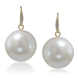 Large Pearl Drop Earrings
