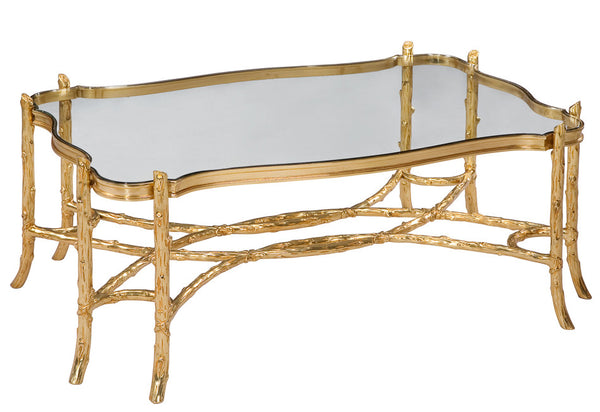 Branches Brass Cocktail Table