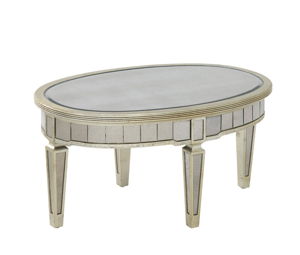 Borghese Oval Mirrored Cocktail Table
