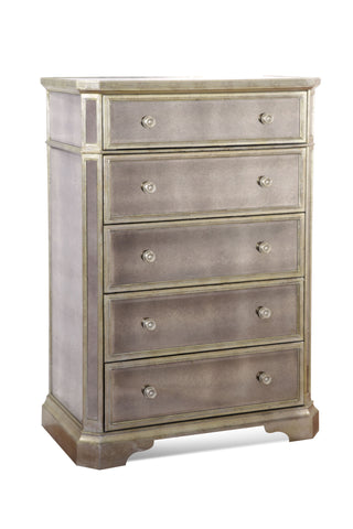 Mirrored Five Drawer Chest
