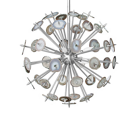 Nickel Agate Burst Chandelier