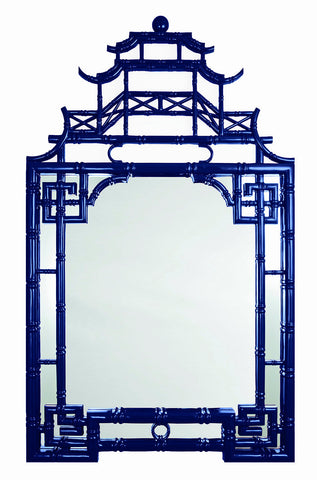 Barclay Butera Blue Pagoda Mirror