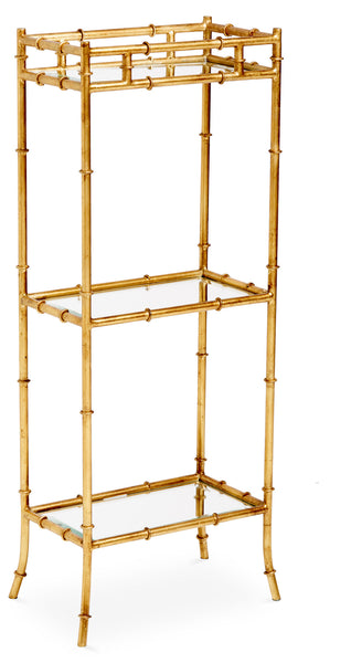 Bette Golden Bamboo Side Table
