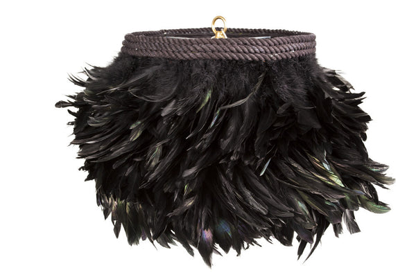 Black Feather Chandelier