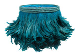 Teal Feather Chandelier