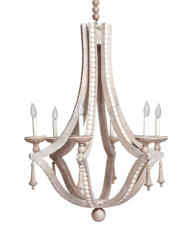 Cabachon Chandelier in Cream