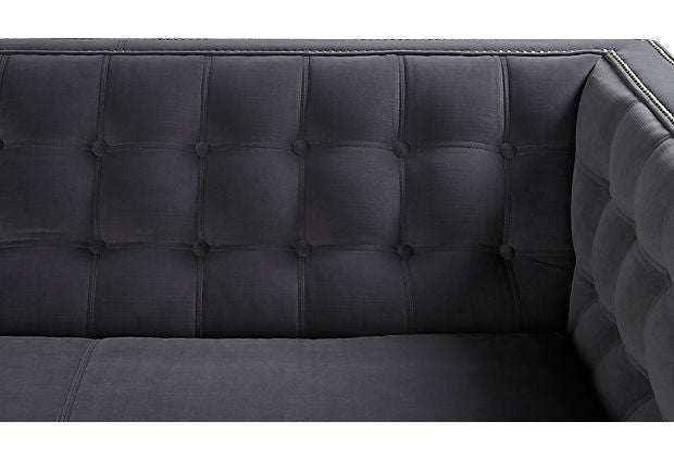 Channing Tuxedo Sofa in Charcoal