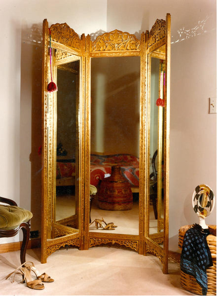 Cleo Mirrored Dressing Screen