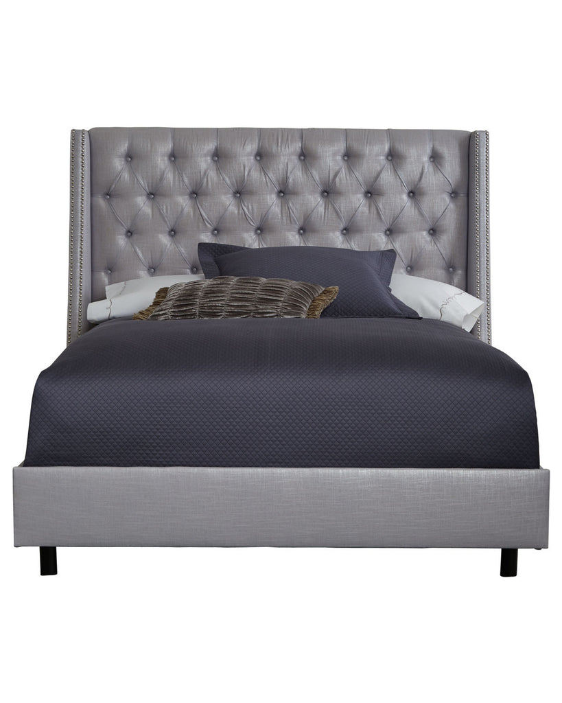 Dove Wingback Bed