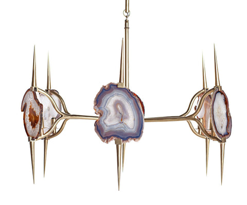 Eclipse Agate Chandelier