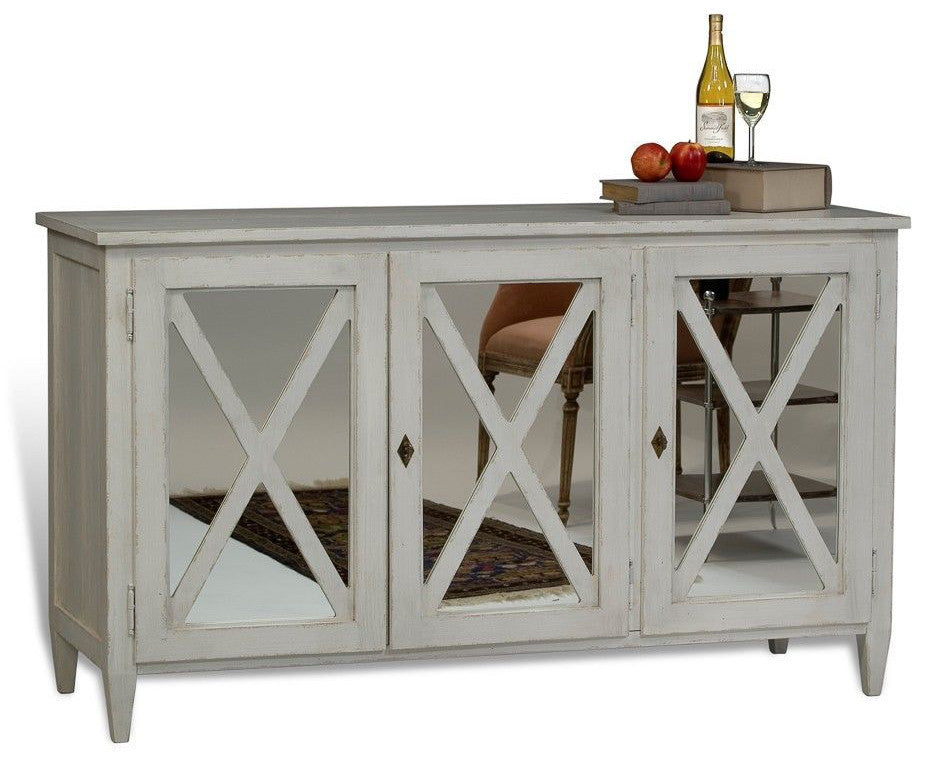Elaine French Country Mirrored Sideboard