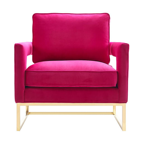 Eva Velvet Rose Cube Chair
