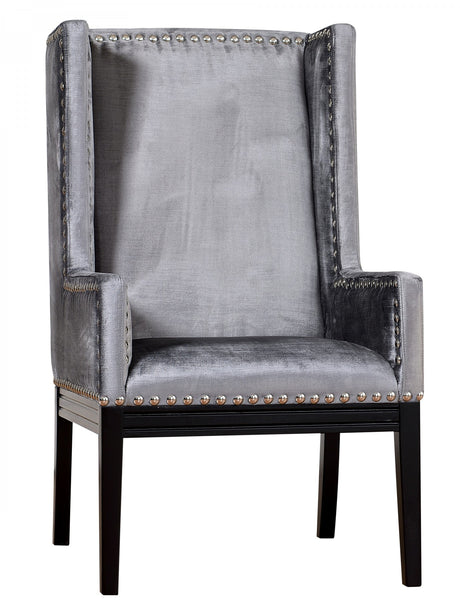 Addison Grey Velvet Wingback Chair
