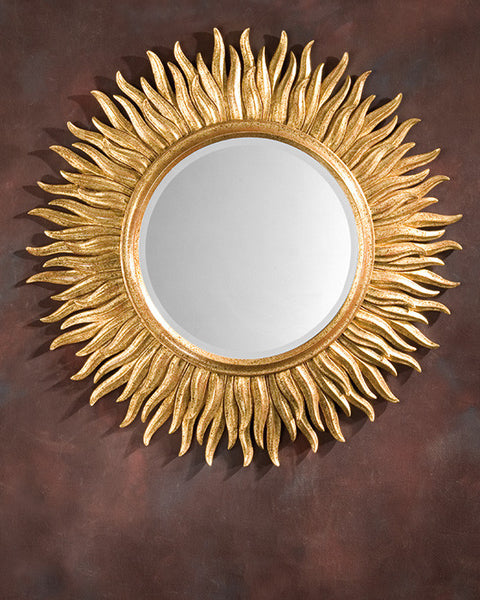 Gold 18th Century Italian Sunburst Mirror