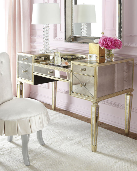 Marilyn Mirrored Makeup Vanity Desk