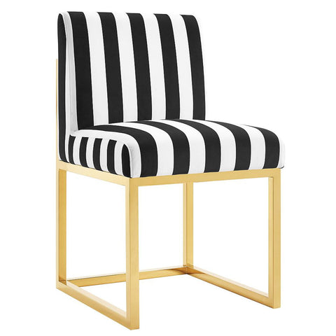 Haute Haley Black & White Striped Chair