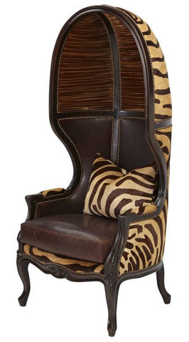 Kilau Caramel Zebra Balloon Chair