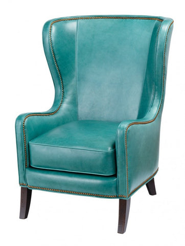 Keaton Leather Wingback Chair