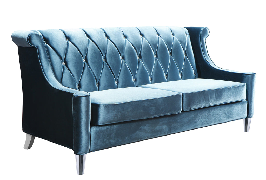 Barrister Velvet Sofa in Blue