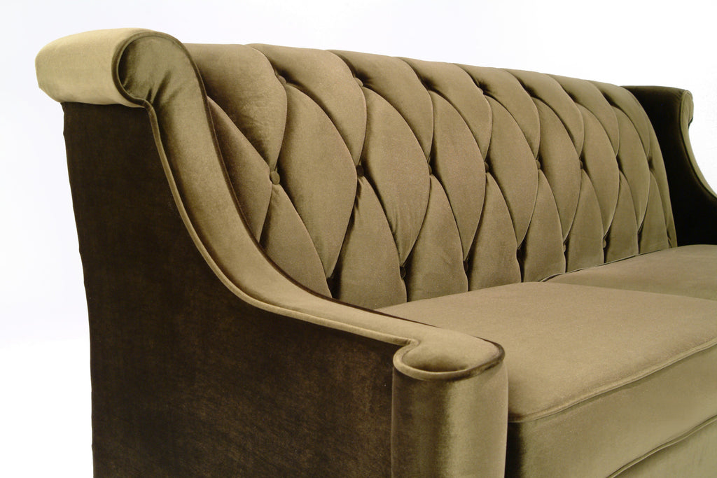 Barrister Velvet Sofa in Green